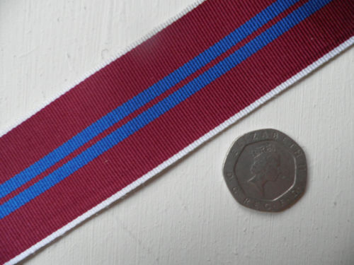 Queens Coronation /& Jubilee Medals Medal Ribbon Clearance New. 25 Meter Roll