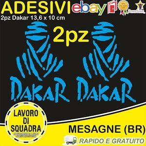 2-Adesivi-Dakar-Paris-Africa-Honda-KTM-Vinile-Decalco-Moto-Stickers-CIANO-BLU
