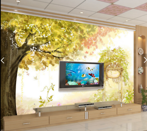 3D Baum Blatt Cartoon588 Tapete Tapeten Mauer Foto Familie Tapete Wandgemälde DE