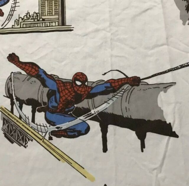 Pottery Barn Kids Spiderman Marvel Twin Size Flat Bed