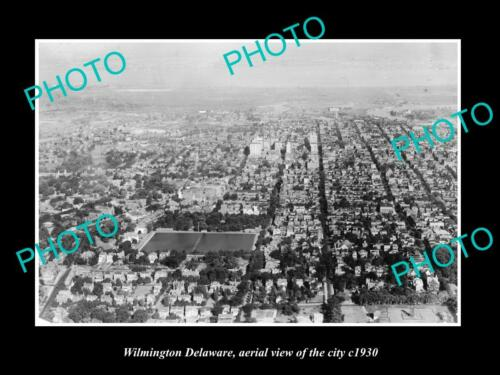 OLD 6 X 4 HISTORIC PHOTO OF WILMINGTON DELAWARE, AERIAL VIEW OF THE CITY c1930 1