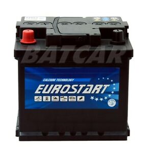 autobatterie starterbatterie eurostart 12v 50ah links. Black Bedroom Furniture Sets. Home Design Ideas