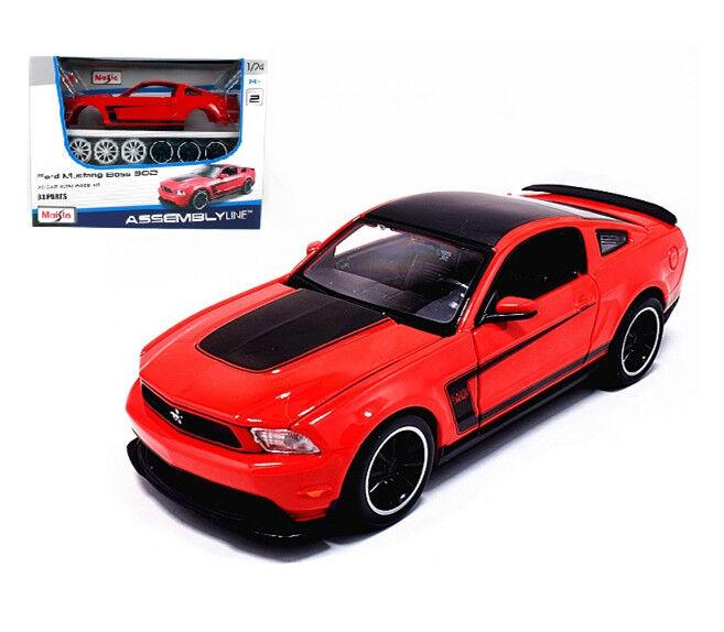 Maisto 1 24 Ford Mustang Boss 302 Assembly Line Metal KIT Model Car