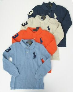 Boy/'s Long Sleeve Polo Shirts Sizes 8-10//12-14//16 NWT * 3 Colors