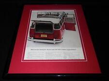 1962 VW Volkswagen Station Wagon 11x14 Framed ORIGINAL Vintage Advertisement