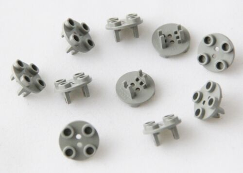Round Plate Thin With Wheel Holder Genuine Lego Part 2655 Brand GREY 10 PIECES
