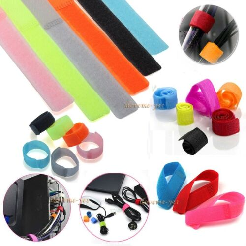 30x Colourful Reusable Wrap Wire Organizer Fastening Wire Cable Ties Straps Wrap