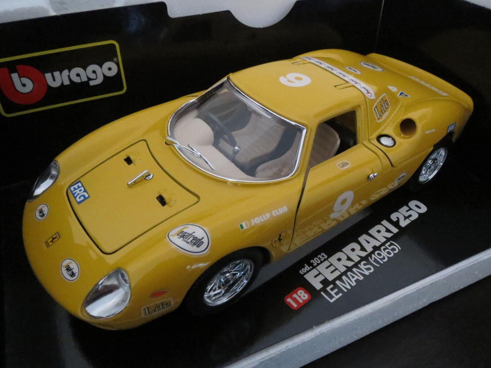 La Mini Miniera Ferrari 250lm (1965) Jolly Club, jaune, transformation, neufs, top