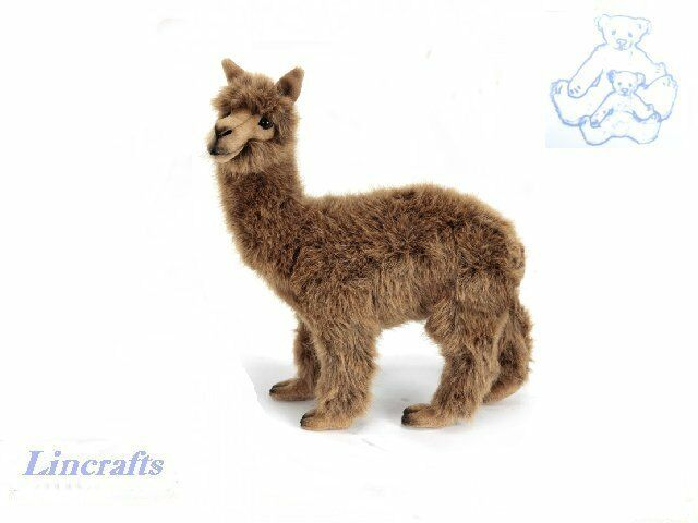 Hansa Brown Alpaca 6028 Plush Soft Toy Sold by Lincrafts Established 1993