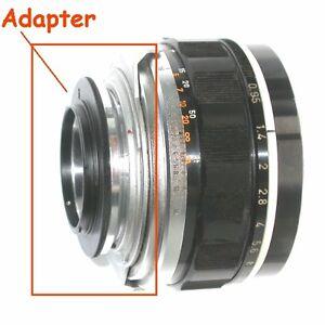 Micro-4-3-Olympus-Lumix-Panasonic-raccordo-a-obiettivo-Canon-7-e-Canon-TV-3611