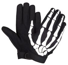 XXL Skeleton FINGER MOTORCYCLE GLOVES BONES Hand Mechanic WORK PAINTBALL COSPLAY