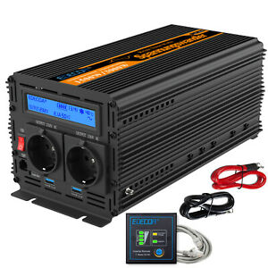 Inverter-onda-sinusoidale-pura-1500W-3000W-12V-220V-Convertitore-USB-Sortstart