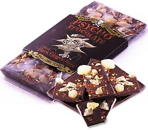 Short Dated Psycho 100g Chilli Dark Chocolate Ginger Beer Ghost Pepper Bar Gift - Portsmouth, United Kingdom - Short Dated Psycho 100g Chilli Dark Chocolate Ginger Beer Ghost Pepper Bar Gift - Portsmouth, United Kingdom