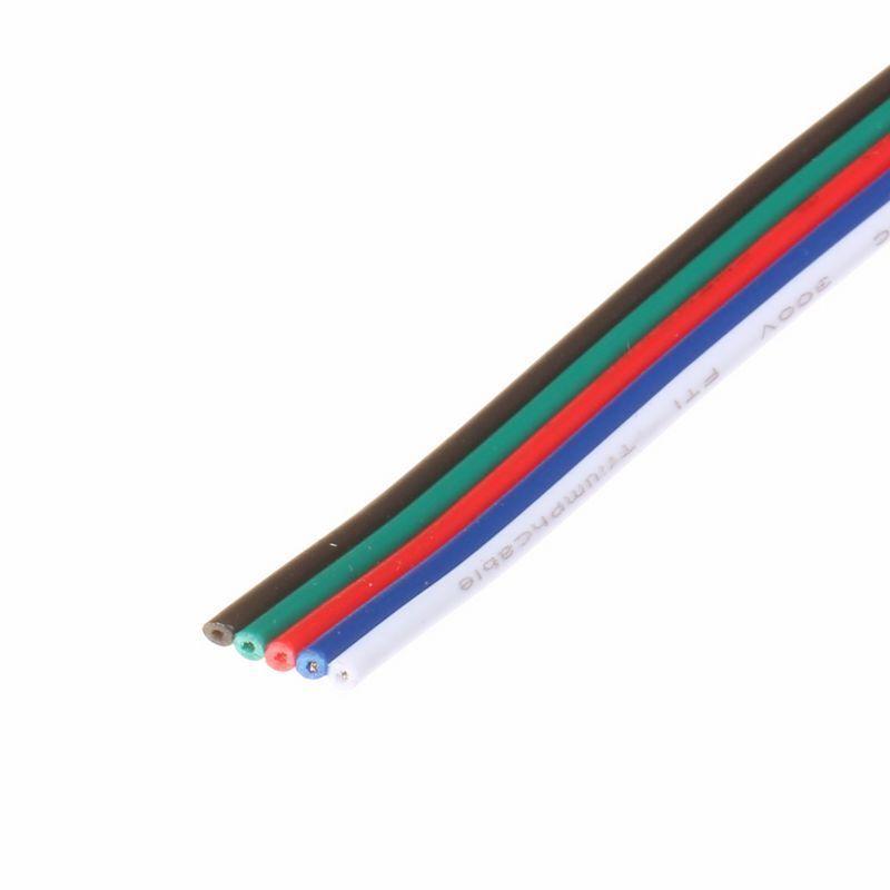 (  m)  RGBW 5-adrig Verlängerung Kabel Leitung, Flachkabel