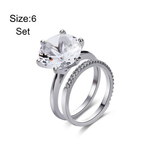 18k or blanc mariage élégant Catalina Anneau et Amelie Bague Diamant Nouveau