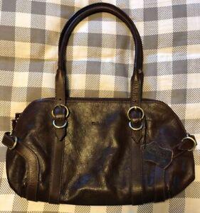 Milleni Leather Satchel Shoulder Purse