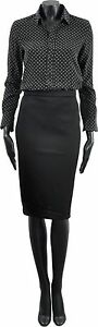 GIVENCHY-990-Auth-New-Black-Stretch-Jersey-Straight-Pencil-Skirt-sz-34-36-38
