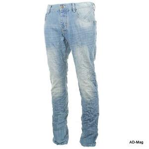 Pantalon-Jeans-Homme-SIXTH-JUNE-RD129974-Bleu-W28-29-30-31-33-US-NEUF