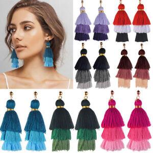 Boho-Jewelry-Vintage-Bohemian-Earrings-Women-Long-Tassel-Fringe-Dangle-Earrings