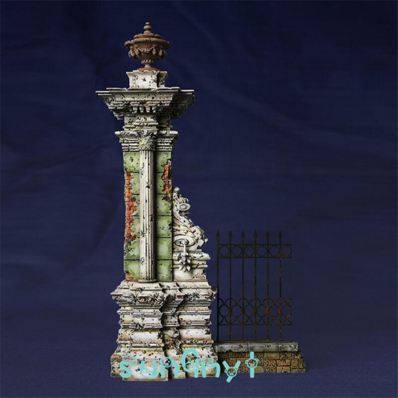 Unpainted War Ruins Statue Destroyed Buildings Europe Model Kits 1 35 Resin