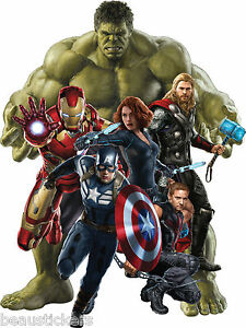 Stickers Hulk-Iron man-Captain América-Hawkey<wbr/>e-Black Widow Avengers ref 15043 15