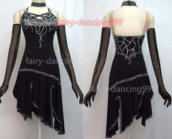 New Ice Figure Skating Dress Baton Twirling Dance Dress Competition p785