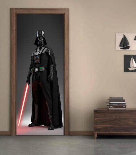 Star Wars Darth Vader Porte Wrap Decal Autocollant Mural Personnalisé Tout Nom D02