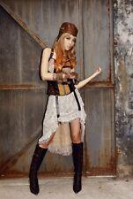 rq-bl pirate steampunk wench skirt