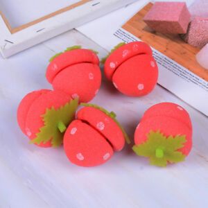 5X-Girls-strawberry-balls-hair-care-soft-sponge-hair-rollers-curlers-DIY-tool-I