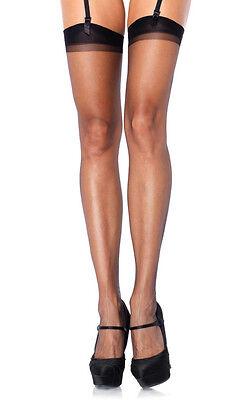 SEXY CALZE NERE VELATISSIME STRETCH DA REGGICALZE TRASPARENTI LEG AVENUE OS TU