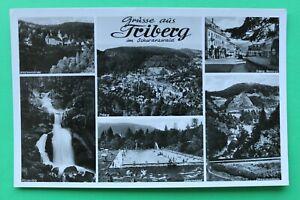 W 7) AK Grüsse aus Triberg im Schwarzwald 1950er Ortsansicht Marktplatz