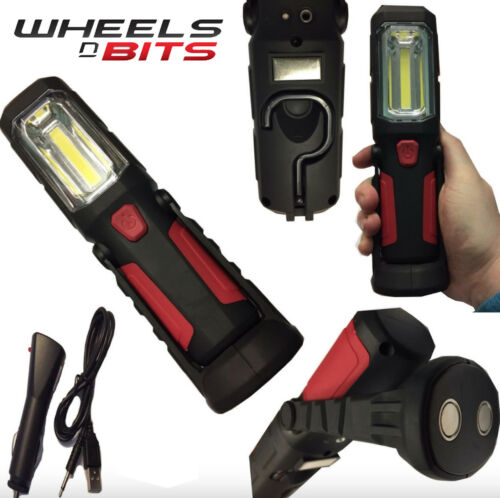 WheelsNBits 1+5W COB Hand Lamp Light Torch Rechargeable Inspection Lamp Magnetic