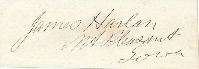 James Harlan - Signature of the Judge and Senator from Iowa