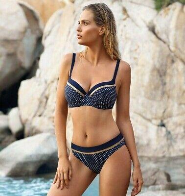 38-44 770 Cups E-G in beige-braun Neu Big Cup Balconette Bikini Self Gr