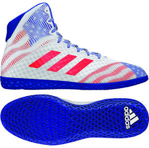 Details zu Adidas 2019 Mat Wizard Hype WhiteRoyalRed USA Red, White, Blue Wrestling Shoes