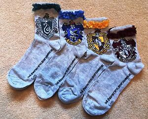 Harry Potter Women's Fashion Socks Primark Gryffindor Slytherin Hufflepuff