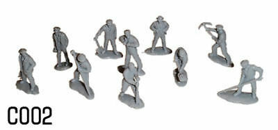 Aggressivo Dapol C002 - Trackside Rail Workers Figures 00 Gauge Plastic Kit -1st Class Post Qualità Eccellente