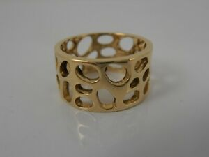 GENUINE-18ct-YELLOW-GOLD-LINKS-OF-LONDON-BAND-RING-SIZE-K-FULLY-HALLMARKED