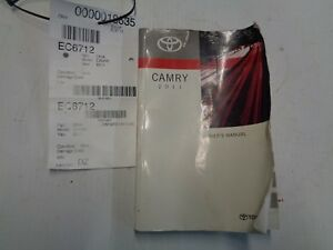 toyota camry owners manual 2011