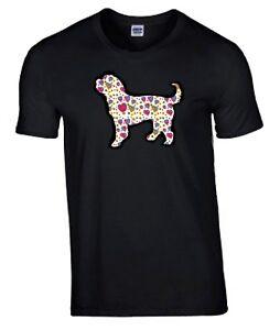 Cockapoo-Hearts-Design-Tshirt-Black-T-shirt-Crew-Neck-Dog-Tee-Shirt-Cockerpoo