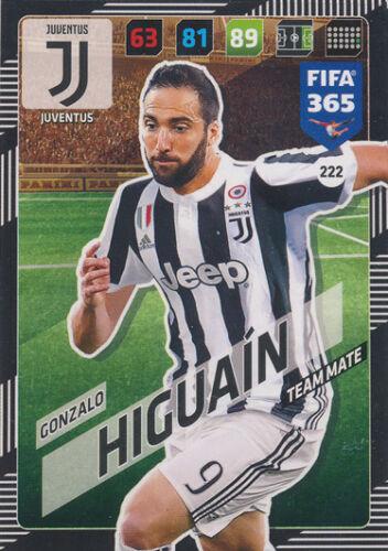 PANINI ADRENALYN XL FIFA 365 cards 2018-222-Gonzalo Higuaín-Juventus
