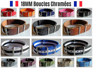 NATO-18MM-Bracelet-Montre-Watch-Band-Strap-Nylon-Militaire-Army-cool-fashion