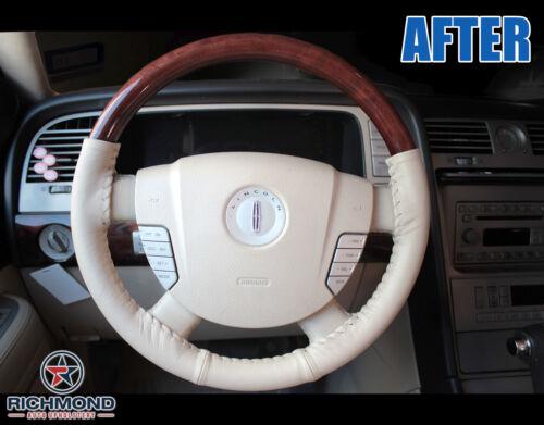 Tan 2003-2004 Lincoln Navigator Rims TV//DVD iPod Leather Steering Wheel Cover