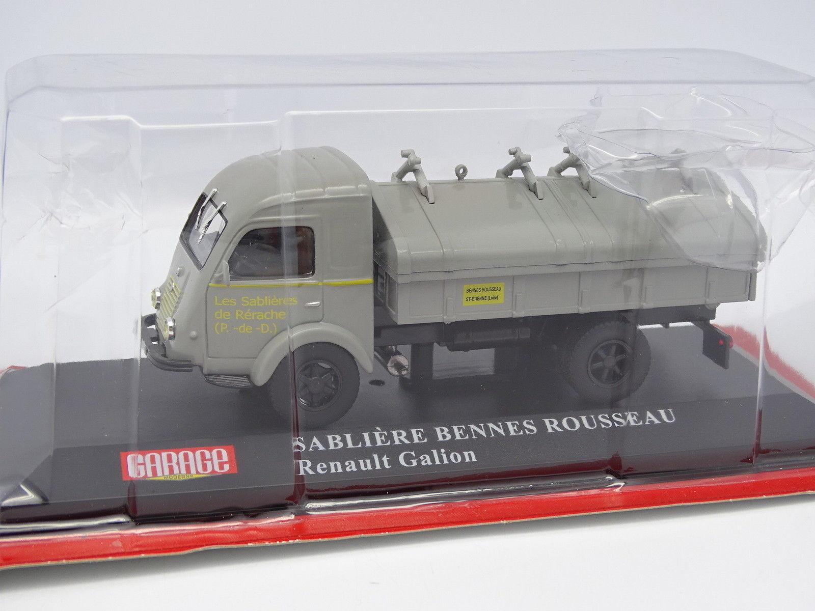 Ixo Presse Garage Moderne 1 43 - Renault Galion Sablières Bennes Rousseau
