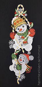 PLAUENER-SPITZE-Fensterbild-SCHNEEMANN-Weihnachten-WINTER-Kinder-Dekoration