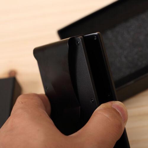 RFID Blocking Slim Money Clip Wallet Credit Card ID Holder for women Men skull