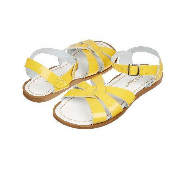 Salt-Water Adults Original Leather Sandals Shiny Yellow