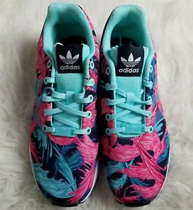 0ad86ad5a Image is loading Adidas-Womens-ZX-Flux-Torsion-Athletic-Shoes-Sz-