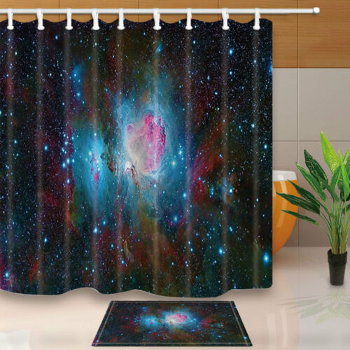Space Nebula Universe Pattern Bathroom Polyester Fabric Shower Curtain 71Inches