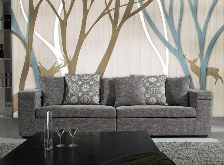 3D Woods, cervi 6 Parete Murale Foto Carta da parati immagine sfondo muro stampa